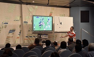 「スポーツセミナー、ラグビー」試合を振り返り観戦できる・・