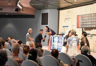 楽しみの最終イベント「ビンゴ大会」では歓声が幾度となく聞こえました。