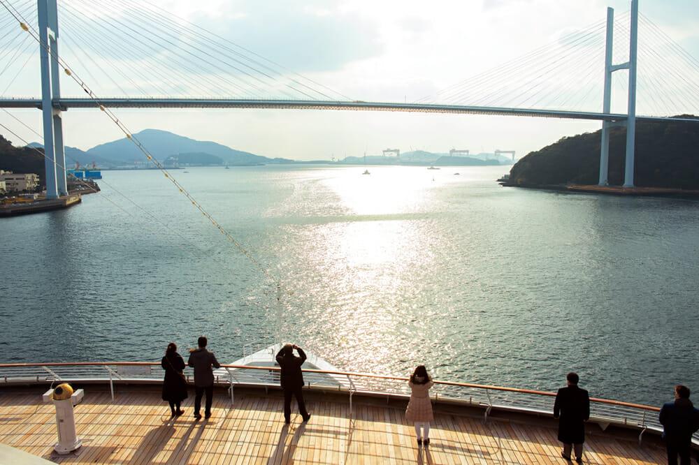長崎出港時