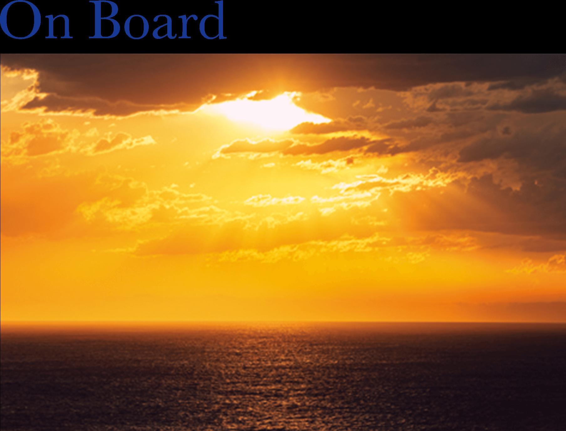 2022年 オセアニアグランドクルーズ On Board 船上の夕陽 詳細情報