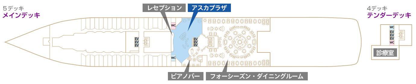 Deck4-5 メインデッキ テンダーデッキ アスカプラザ