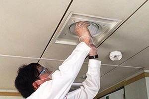 抗菌・抗ウイルスフィルターの設置