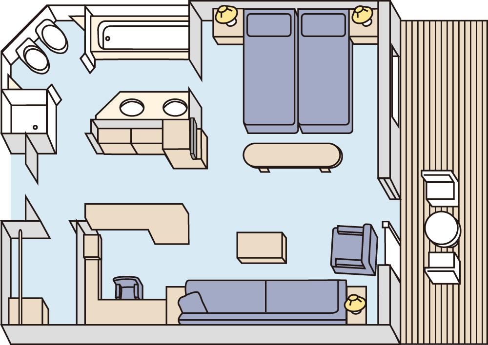 室内の間取り図(一例)