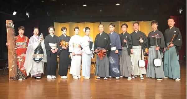 新年を日本の伝統で明るく楽しく<br>西川啓光社中